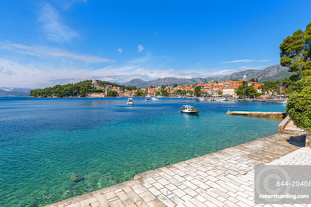View of Cavtat on the Adriatic Sea, Cavtat, Dubronick Riviera, Croatia, Europe