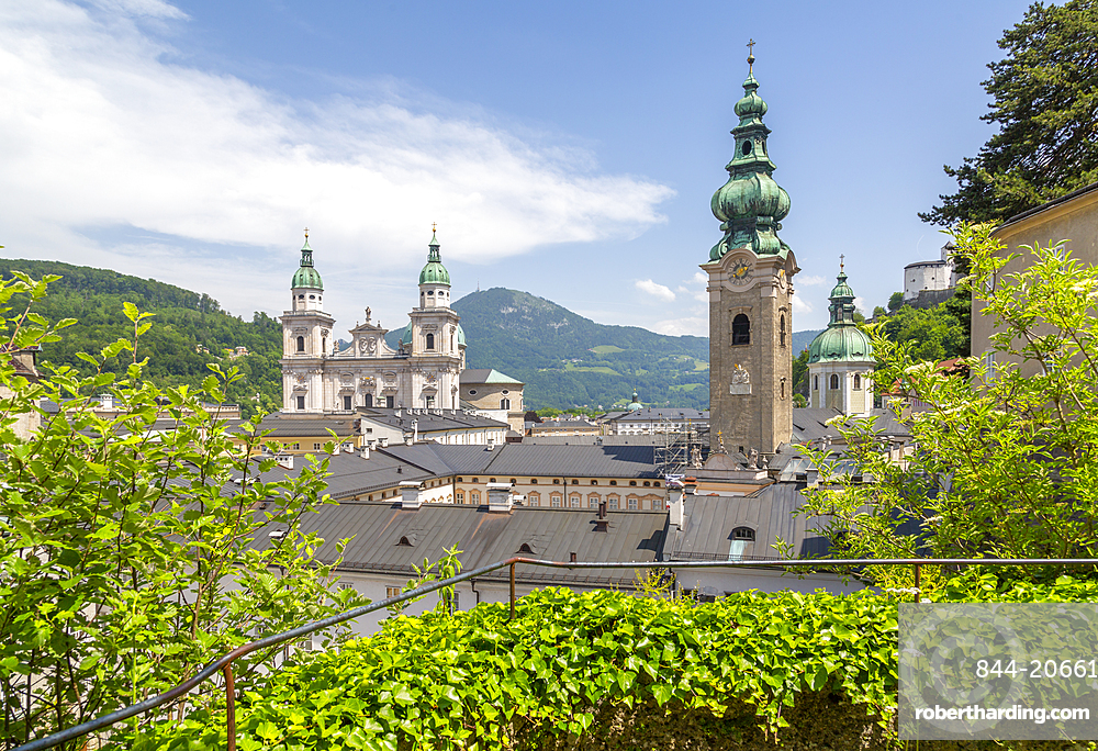 View of The Old City and Cathedral, UNESCO World Heritage Site, Salzburg, Austria, Europe
