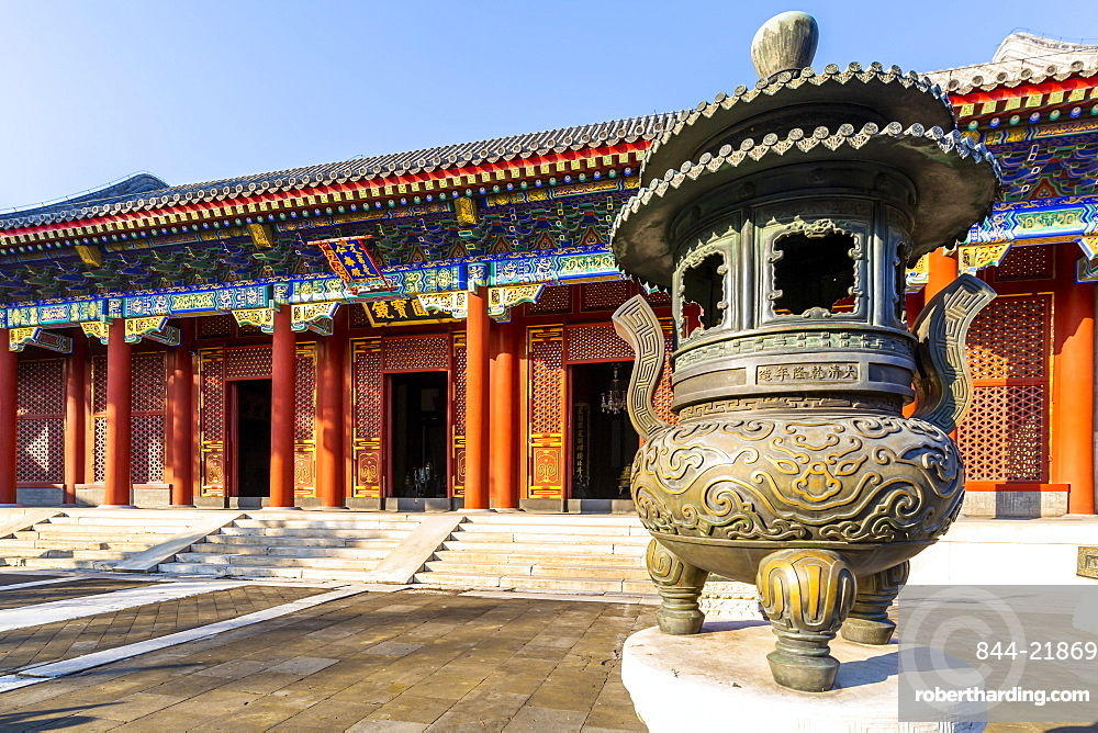 View of ornate buildings in The Summer Palace, UNESCO World Heritage Site, Beijing, People's Republic of China, Asia
