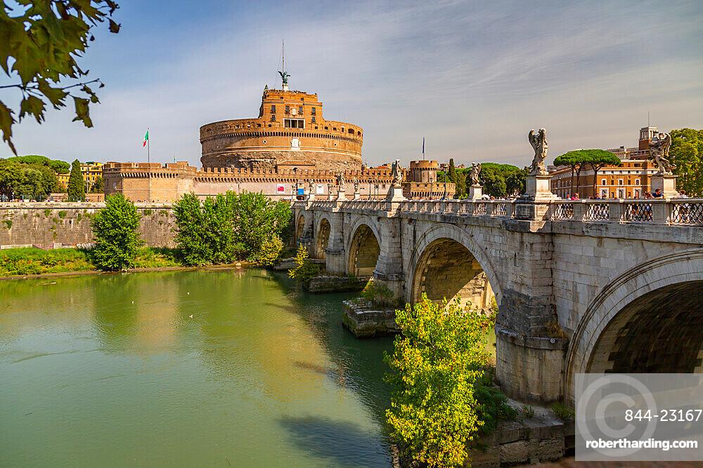 View of the Mausoleum of Hadrian (Saint Angelo's Castle), Parco Adriano, UNESCO World Heritage Site, Rome, Lazio, Italy, Europe