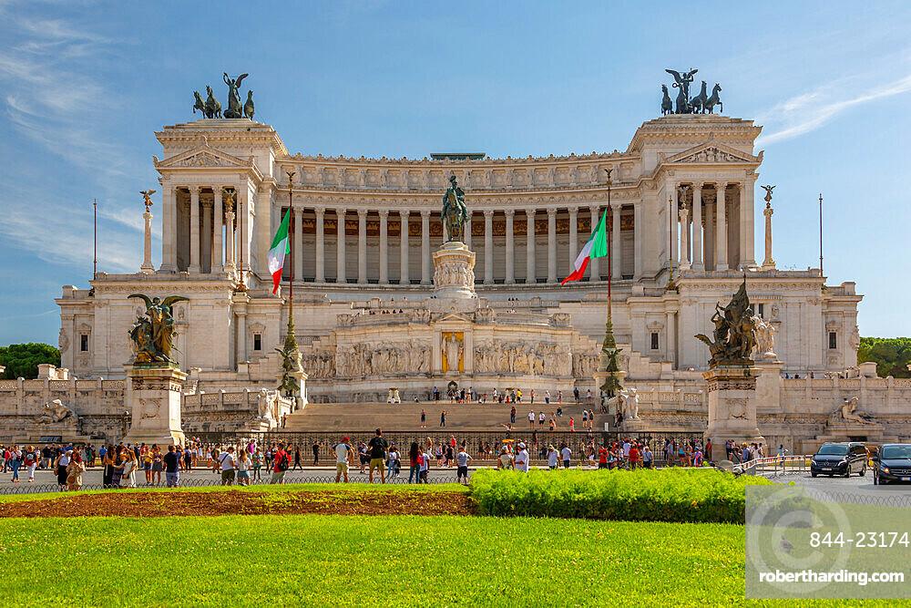 View of Vittoriano, National Monument Vittorio Emanuel, Piazza Venezia, Rome, Lazio, Italy, Europe