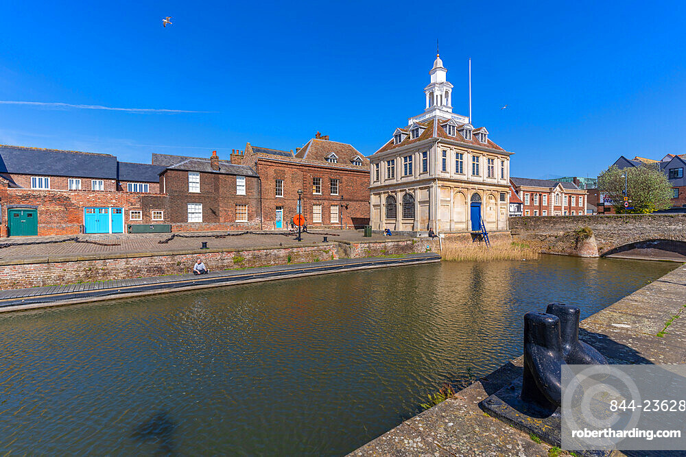 View of the Customs House, Purfleet Quay, Kings Lynn, Norfolk, England, United Kingdom, Europe