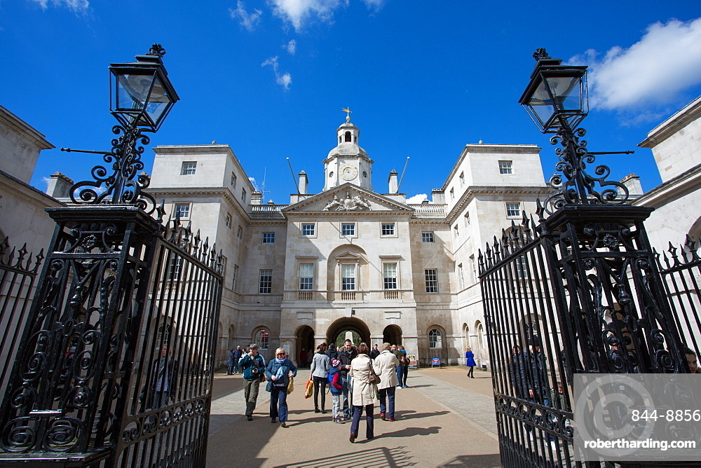 Entrance to Horse Guards Parade, Whitehall, Westminster, London, England, United Kingdom, Europe