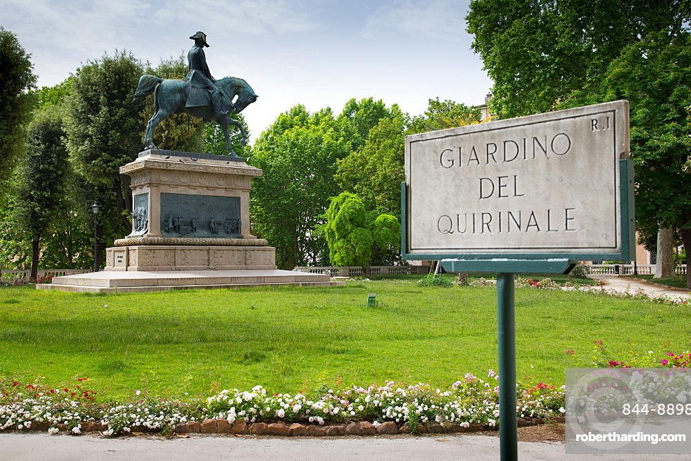 Giardino Del Quirinale Park, Rome, Lazio, Italy, Europe
