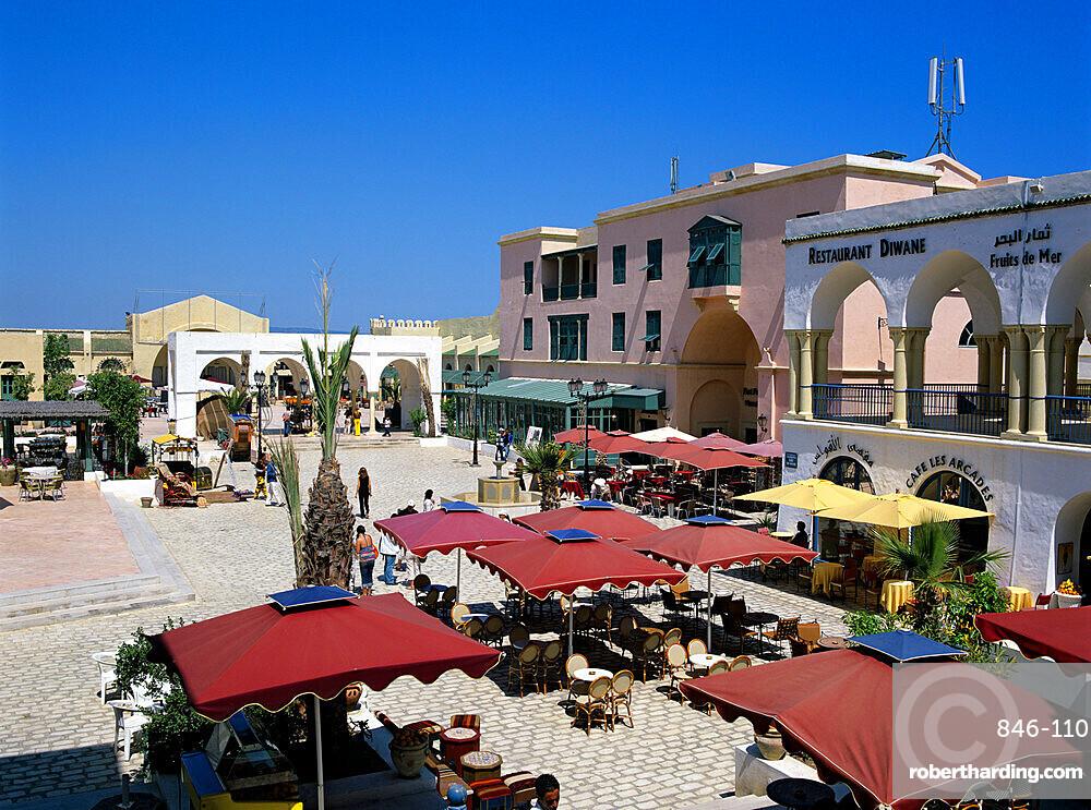 Restaurants inside the Medina, Yasmine Hammamet, Cap Bon, Tunisia, North Africa, Africa