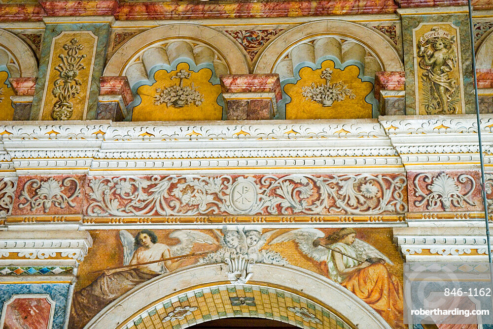 Interior of Santa Cruz Basilica, Kochi (Cochin), Kerala, India, Asia