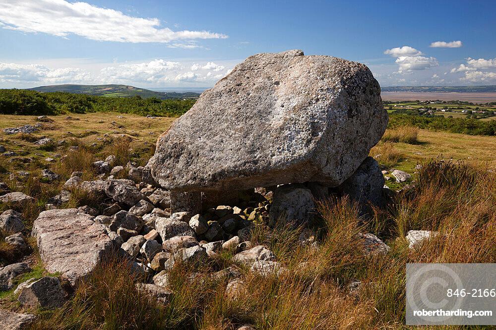 Arthur's Stone (Maen Ceti, Maen Cetty) a Neolithic chambered dolmen, Gower Peninsula, Swansea, Glamorgan, Wales, United Kingdom, Europe