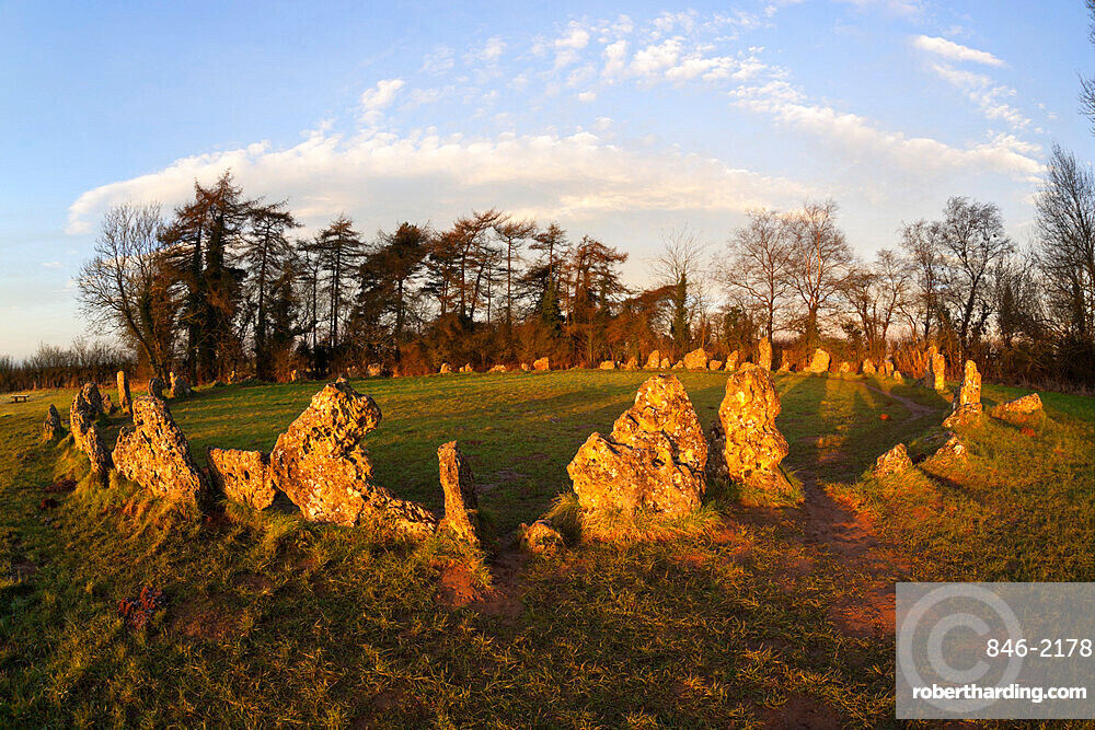 The Rollright Stones, a Bronze Age stone circle, Chipping Norton, Oxfordshire, Cotswolds, England, United Kingdom, Europe