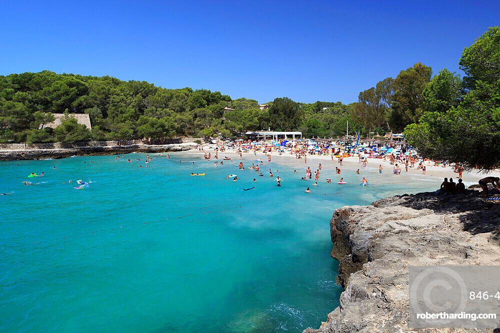 Platja de ses fonts de n'Alis, Parc Natural de Mondrago, Mallorca (Majorca), Balearic Islands, Spain, Mediterranean, Europe