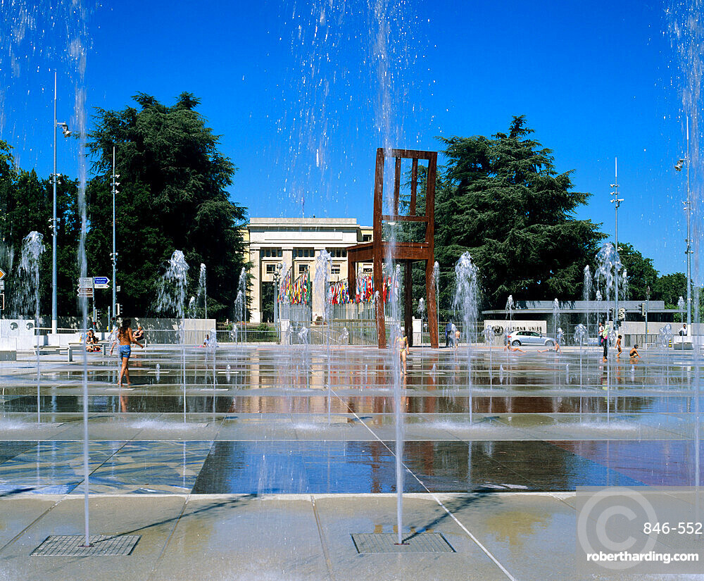 Place des Nations and the Palais des Nations, Geneva, Switzerland, Europe
