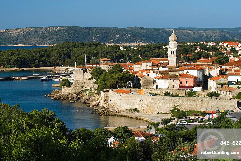 Krk Town, Krk Island, Kvarner Gulf, Croatia, Adriatic, Europe