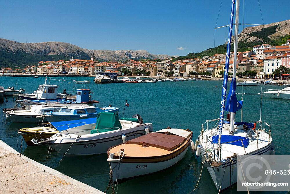 The harbour, Baska, Krk Island, Kvarner Gulf, Croatia, Adriatic, Europe