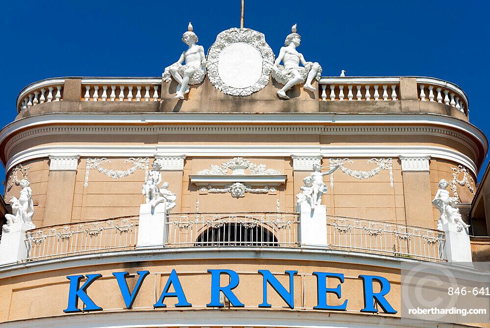 Facade of the Kvarner Hotel, Opatija, Kvarner Gulf, Croatia, Europe