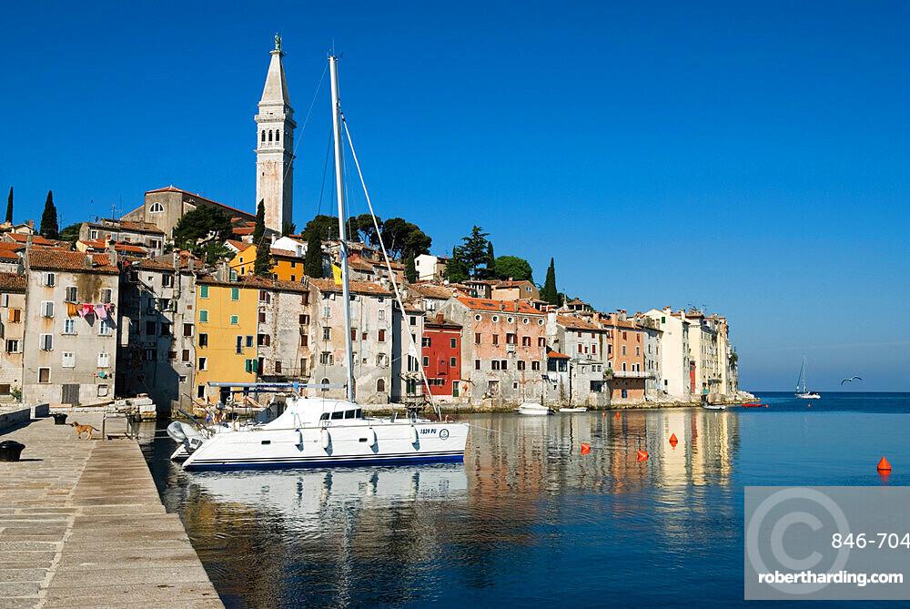 Old Town and St Euphemia's Church, Rovinj, Istria, Croatia, Adriatic, Europe