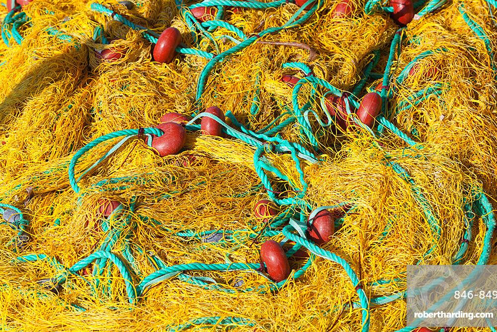 Fishing nets, Ormos Marathokampos, Samos, Aegean Islands, Greece