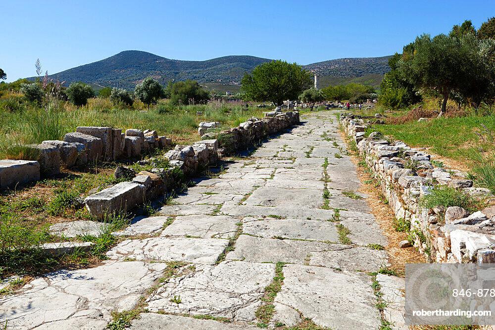 Sacred Way, Ireon archaeological site, Ireon, Samos, Aegean Islands, Greece