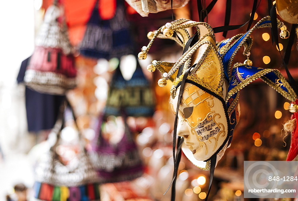Traditional souvenirs for sale on street, Naples, Campania, Italy, Europe