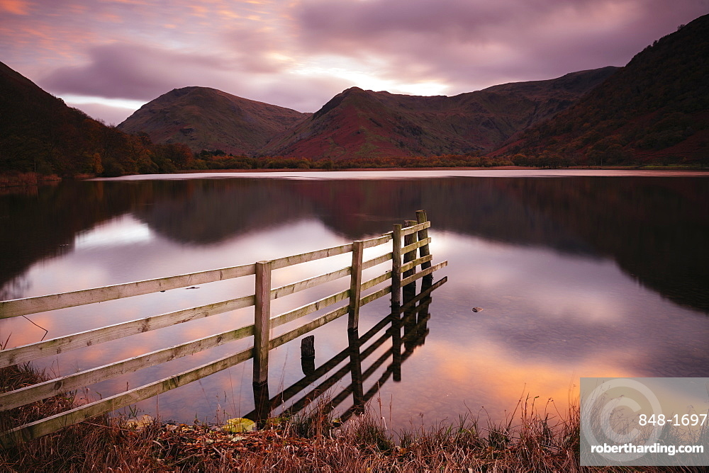 Brothers Water at sunset, Dovedale, Lake District National Park, UNESCO World Heritage Site, Cumbria, England, United Kingdom, Europe