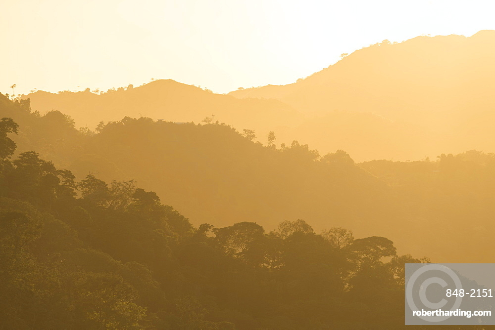 View of landscape near Minca, Magdalena Department, Caribbean, Colombia, South America