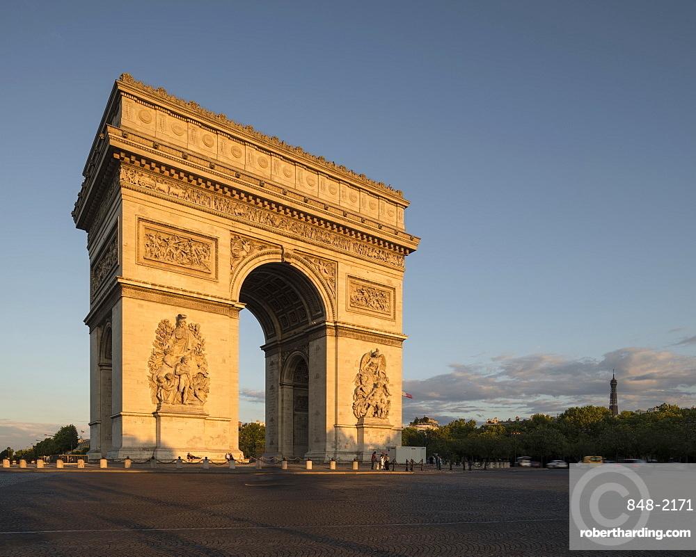 Arc de Triomphe de l'v?toile, Paris, v?le-de-France, France, Europe