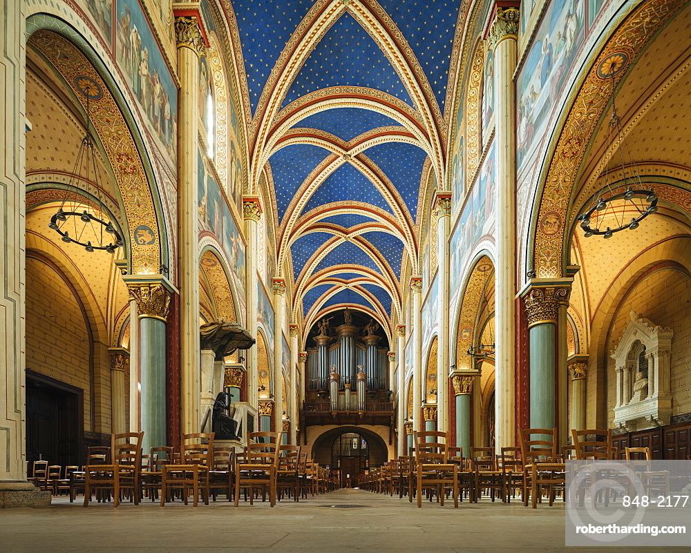 Interior of Benedictine Abbey of Saint-Germain-des-Pres, Paris, Ile-de-France, France, Europe
