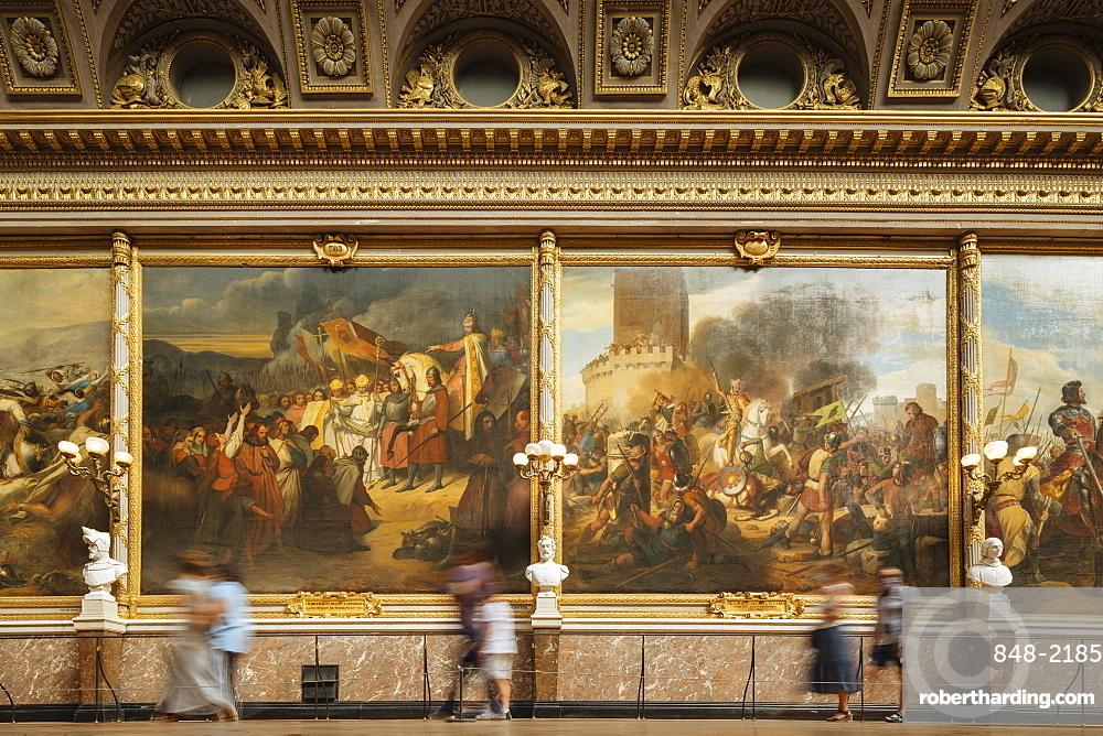 The Battles Gallery, Palace of Versailles, Paris, v?le-de-France, France, Europe