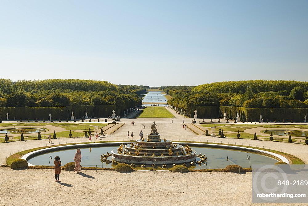 Gardens, Palace of Versailles, UNESCO World Heritage Site, Yvelines, Ile-de-France, France, Europe