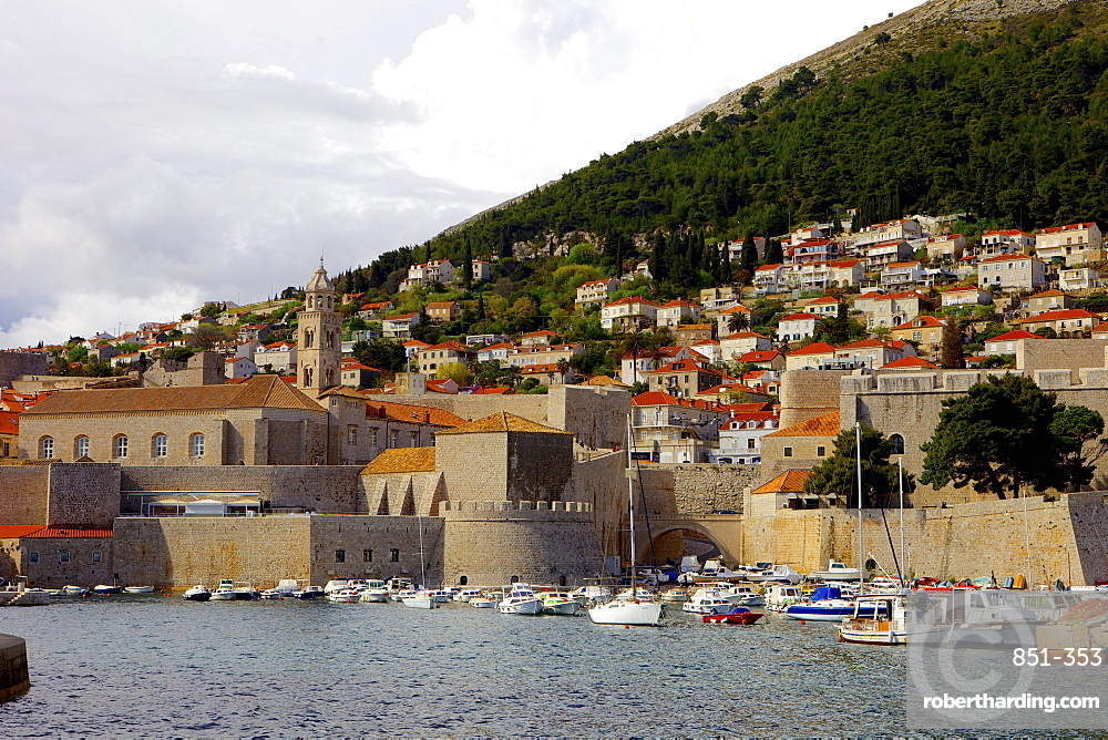 The old town of Dubrovnik, UNESCO World Heritage Site, Croatia, Europe