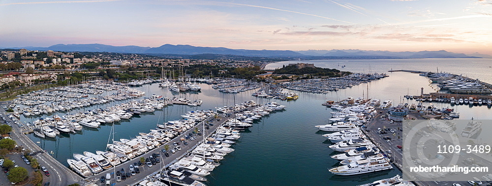 Fort Carre and Antibes Harbour, Provence-Alpes-Cote d'Azur, French Riviera, France, Mediterranean, Europe
