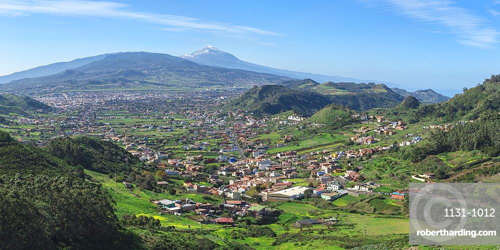 View over the Teide volcano and Teide National Park, Tenerife, Canary Islands, Spain, Europe