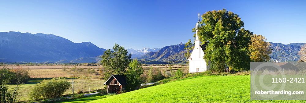 Ramsachkircherl Church, Murnauer Moos Moor, Murnau am Staffelsee, Upper Bavaria, Bavaria, Germany, Europe
