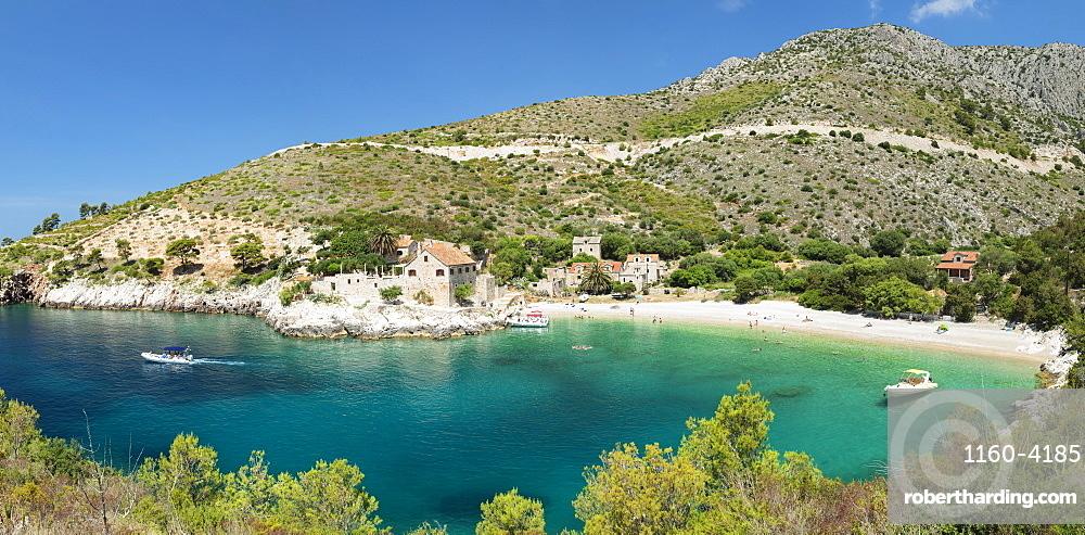 Dubovica bay and beach, Hvar Island, Dalmatia, Croatia, Europe