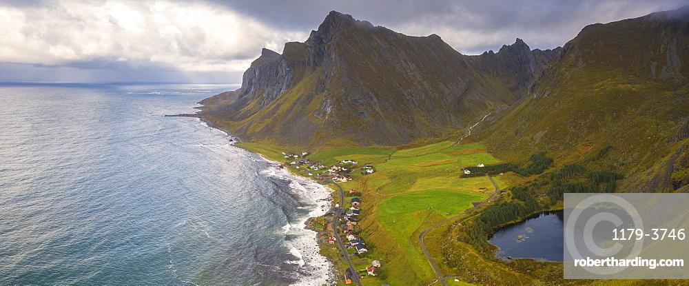 Coastline of Vikten, Lofoten Islands, Norway, Europe