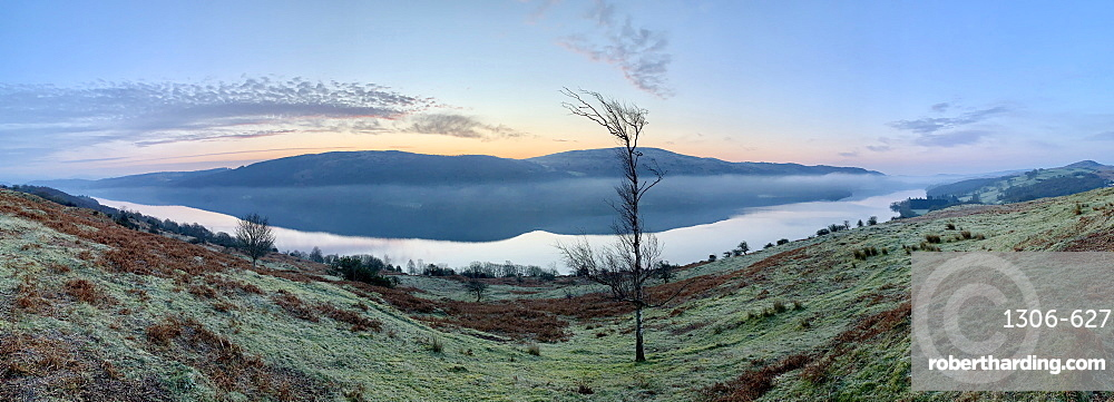 Coniston with rolling mist, Lake District National Park, Cumbria