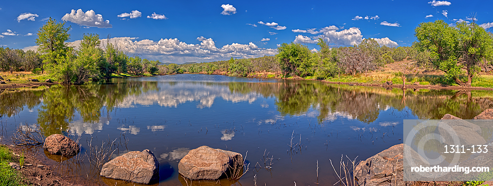 An artificial lake in northern Arizona called Hell's Canyon Tank, north of Paulden, Arizona, United States of America, North America