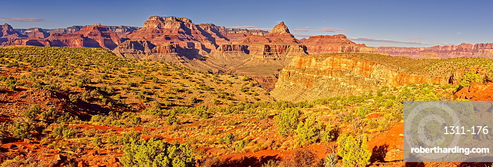 Grand Canyon view from the north side of Horseshoe Mesa, Grand Canyon National Park, UNESCO World Heritage Site, Arizona, United States of America, North America