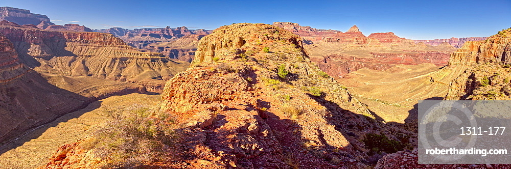 Grand Canyon view from western edge of Horseshoe Mesa, Grand Canyon National Park, UNESCO World Heritage Site, Arizona, United States of America, North America