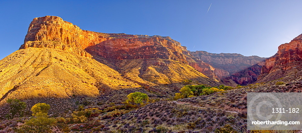 Bright Angel Canyon on the south rim of the Grand Canyon viewed just north of Indian Gardens, Grand Canyon National Park, UNESCO World Heritage Site, Arizona, United States of America, North America