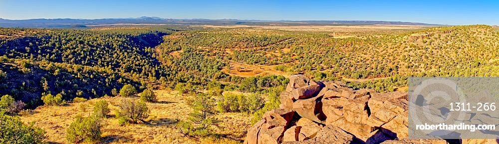 Prescott National Forest panorama viewed from a cliff on the edge of MC Canyon near Drake Arizona.