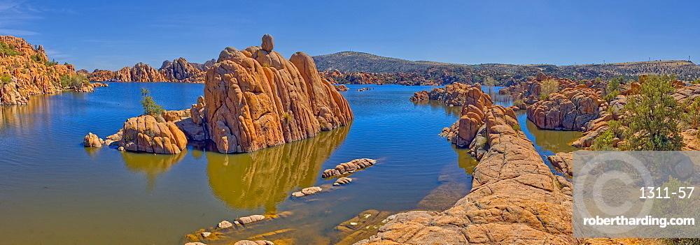 Panorama of Rock islands in Watson Lake viewed from the North Shore Trail, Prescott, Arizona, United States of America, North America