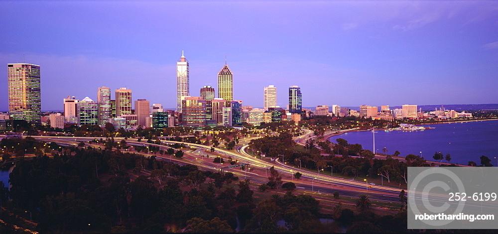 City skyline from Kings Park, Perth, Western Australia, Australia