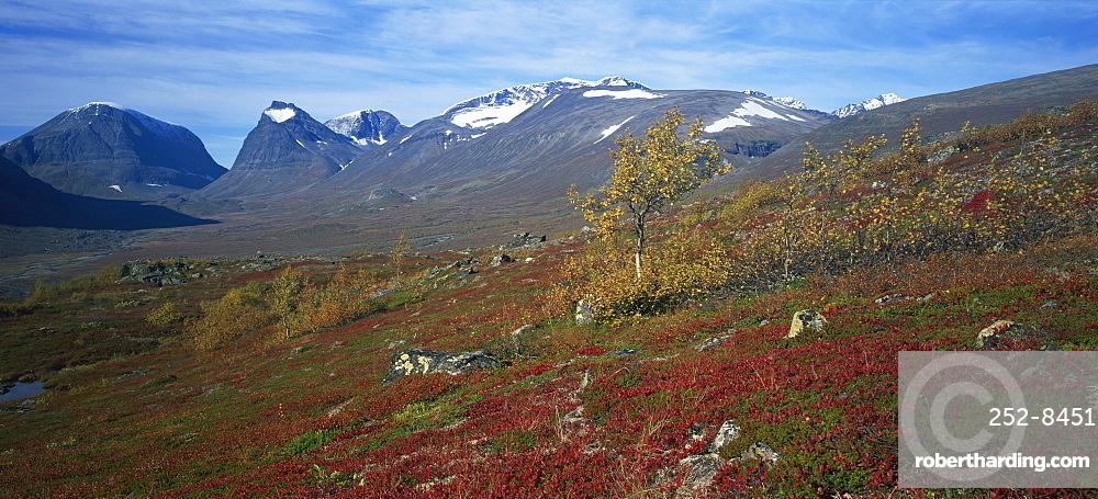 Mount Kebnekaise, Sweden's highest mountain, 2117m, Laponia, Lappland, Sweden, Scandinavia, Europe