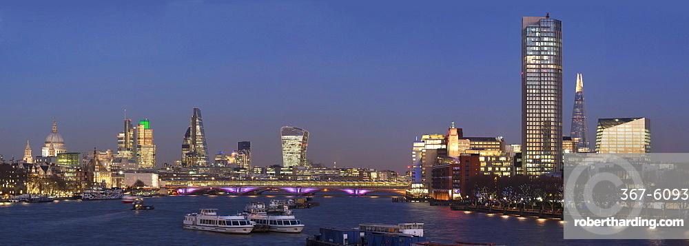 City and Blackfriars panorama with The Shard, London, England, United Kingdom, Europe