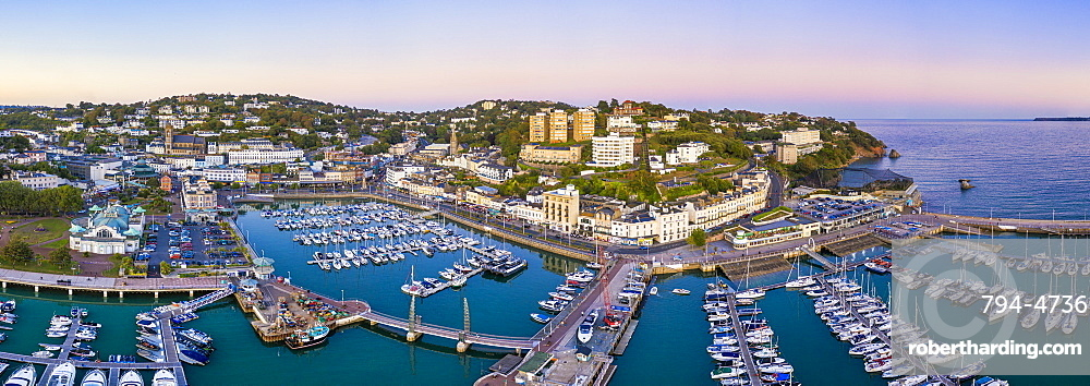 Torquay town and marina, Torbay, Devon, England, United Kingdom, Europe