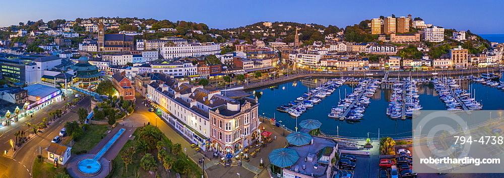 Torquay town and marina, Torbay, Devon, England, United Kingdom, Europe