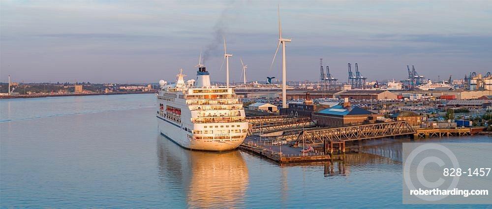 UK, England, Essex, Tilbury, London Cruise Terminal, MV Columbus cruiseship