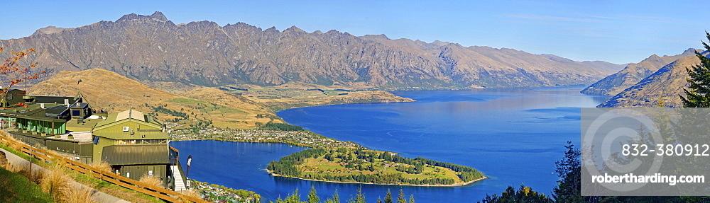 Skyline observation deck, Queenstown, Lake Wakatipu, Otago Region, South Island, New Zealand, Oceania