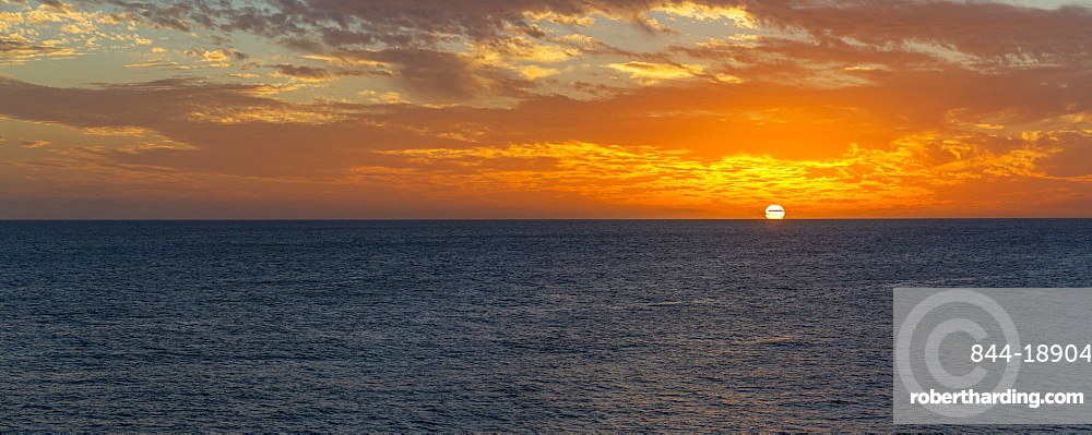 View of West Coast sunset, Bridgetown, Barbados, West Indies, Caribbean, Central America
