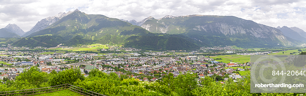 View of Schwaz from view above the town, Schwaz, Tyrol, Austria, Europe