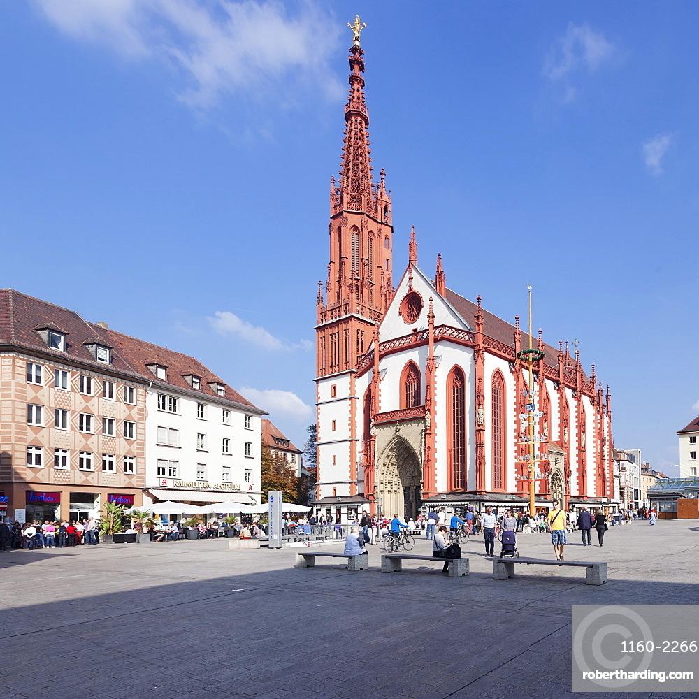 Marienkapelle chapel, market square, Wurzburg, Franconia, Bavaria, Germany, Europe